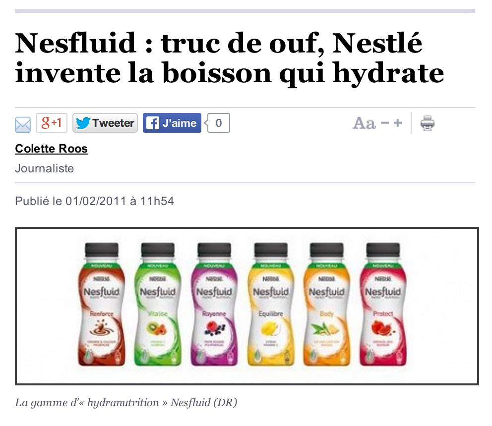 L'autodérision, seule issue après une erreur de communication. Ici la marque sérieuse se fait ridiculiser (Nesfluid).