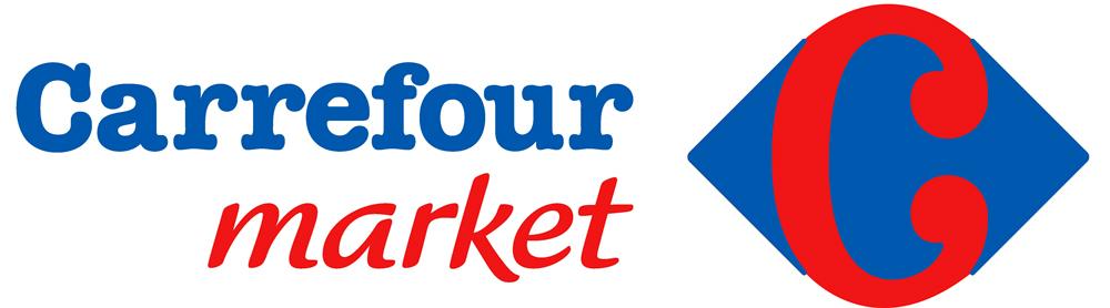 Logo Carrefour Market, la lettre C dissimulée dans le logo est mise en avant à titre de démonstration par l'absurde.