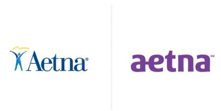 majuscules et minuscules dans un logo Aetna