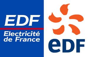 majuscules et minuscules dans un logo edf