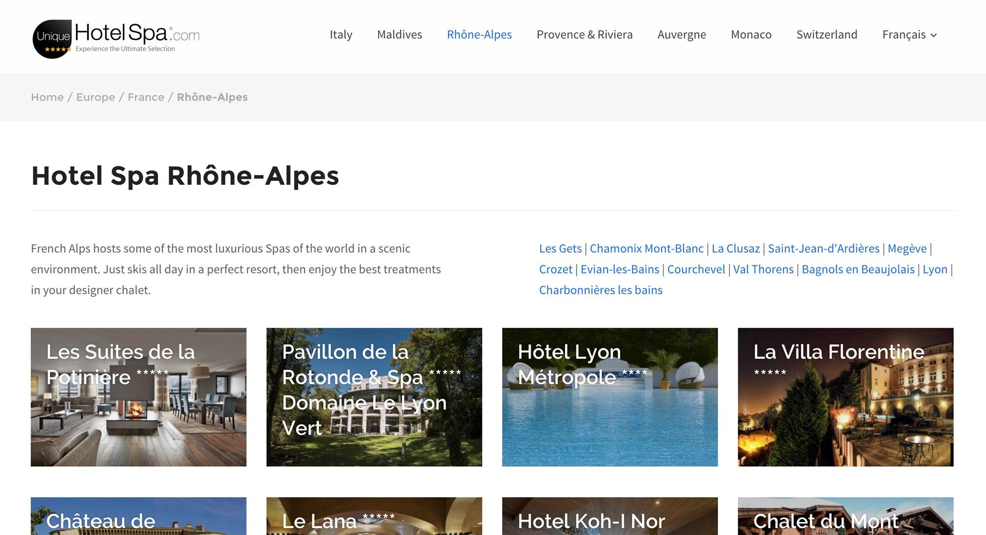 R alisation du site web de r servation unique hotel spa for Site de reservation en ligne hotel